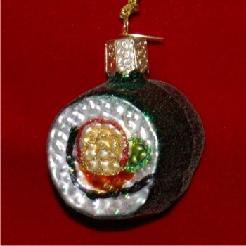 Sushi Glass Christmas Ornament