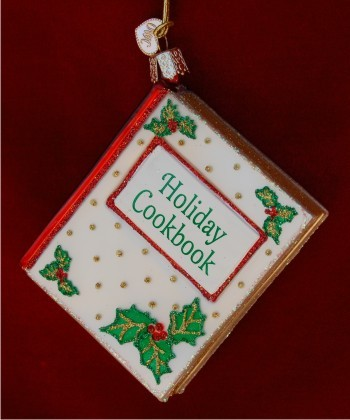 Christmas Cookbook Personalized Christmas Ornament