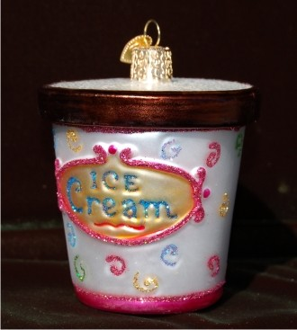 Yea! For Ice Cream! Christmas Ornament