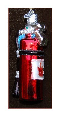 Fire Extinguisher Christmas Ornament Personalized by Russell Rhodes