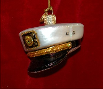 Captain's Cap Christmas Ornament Personalized by Russell Rhodes