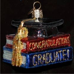 Congrats to the Graduate! Glass Personalized Christmas Ornament