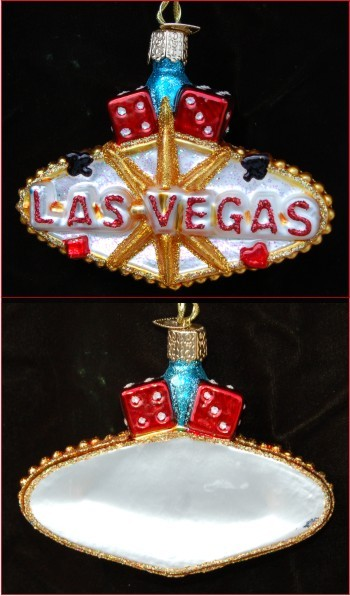 Living it up in Las Vegas Glass Personalized Ornament
