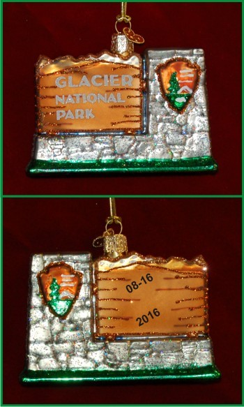 Glacier National Park Christmas Ornament