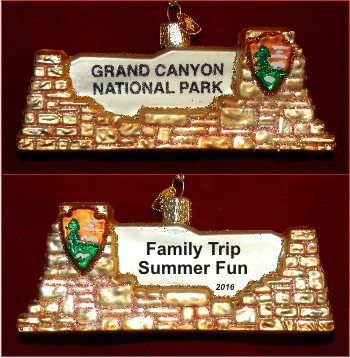 Grand Canyon National Park Christmas Ornament Personalized - Grand Canyon National Park Christmas Ornament Personalized
