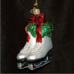 Holiday Skates Glass Personalized Christmas Ornament