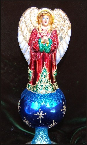 Angelic Beauty Tree Topper Christmas Ornament