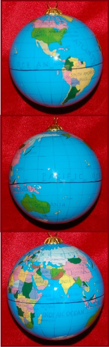 Our Planet: My First Airplane Ride Christmas Ornament Personalized by Russell Rhodes