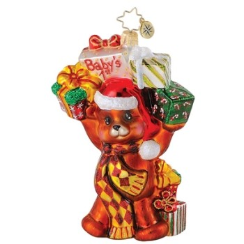 Bouncin' Baby Bear Radko Christmas Ornament
