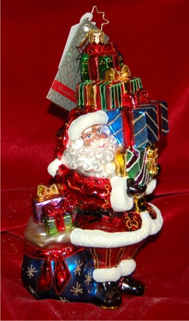 Tip Top Claus Radko Ornament Personalized