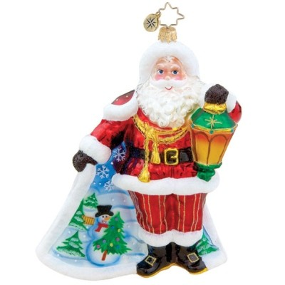 Scenic Surprise Santa Radko Ornament Personalized