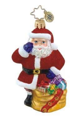 Christmas Caller Gem Radko Ornament Personalized