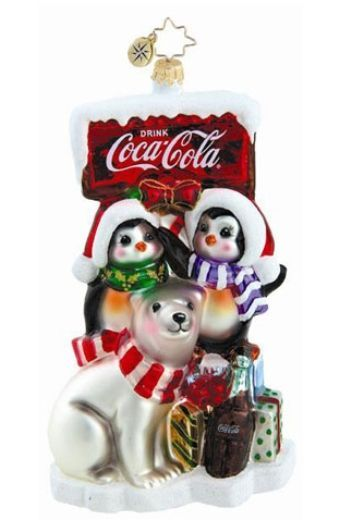 Better on Ice -- Radko Coca-Cola Radko Ornament Personalized