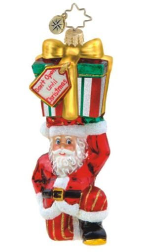 Don't Open Until Christmas Radko Ornament Personalized