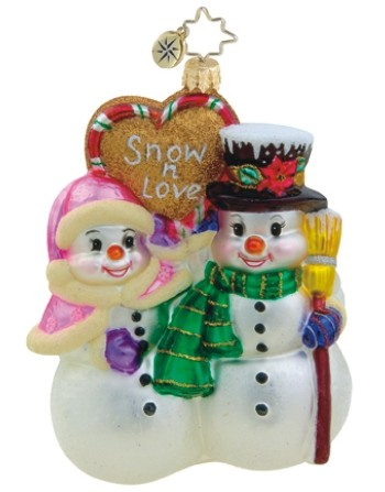 Snow N' Love Radko Ornament Personalized
