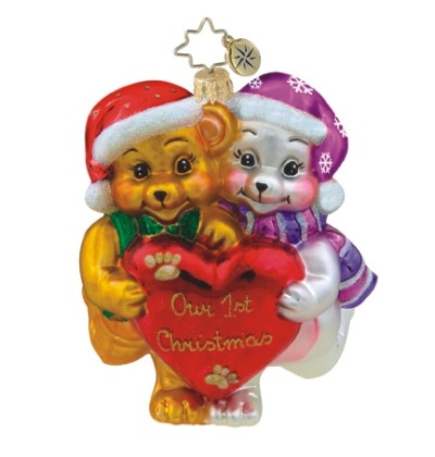 Furry First Radko Christmas Ornament