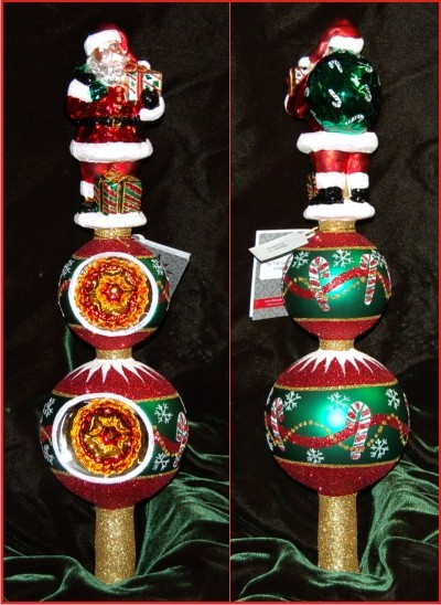 Tip Top Nick Finial Radko Christmas Ornament