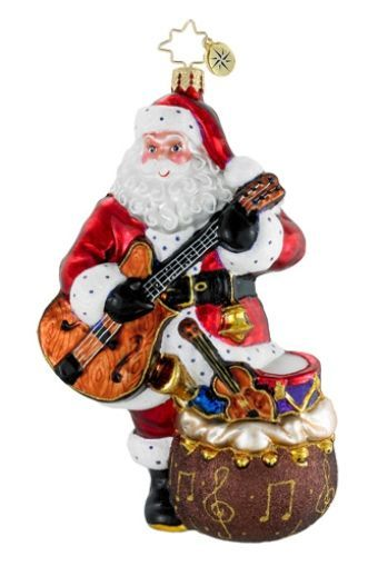 Jammin' Nick - Rockin' his Guitar Personalized Radko Ornament