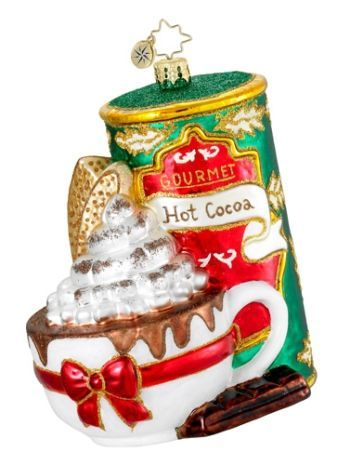 Warm Cup of Cocoa for Grandparents Radko Christmas Ornament