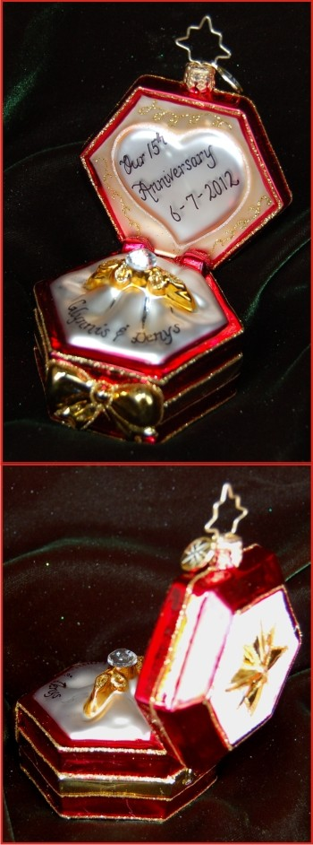Our Anniversary: Diamonds Are Forever Radko Christmas Ornament