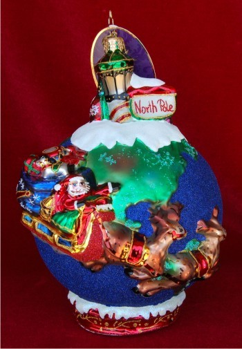 Midnight Trip Around the Globe Radko Limited Edition Christmas Ornament - Midnight Trip Around The Globe Radko Limited Edition Hand
