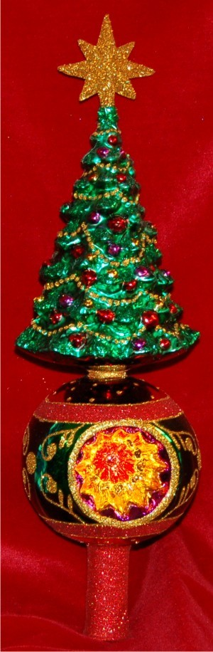 Grand Tree Finial Christmas Ornament Personalized