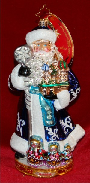 From Russia with Love Radko Christmas Ornament