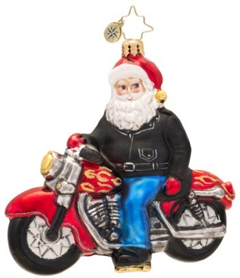 Born to Be a Biker Radko Christmas Ornament
