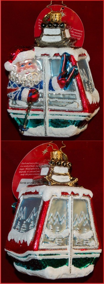 Santa on the Slopes Christmas Ornament Personalized by Russell Rhodes