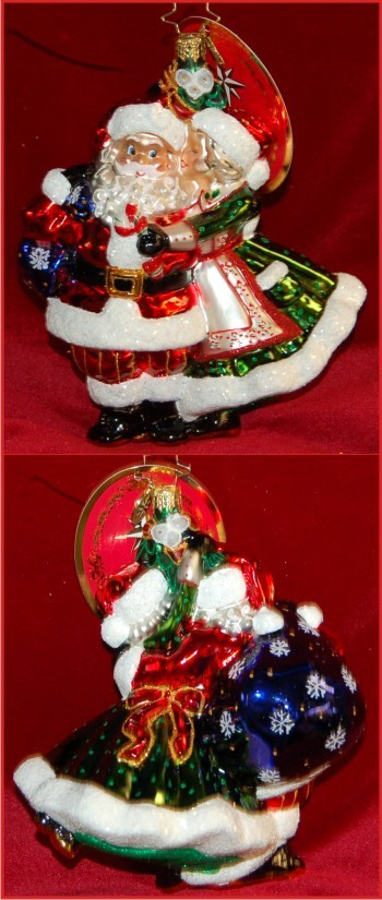 Mr. & Mrs. Mistletoe Christmas Ornament Personalized by Russell Rhodes