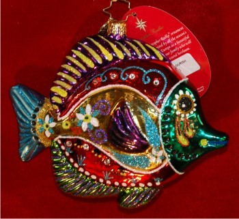 Fish with a Flourish Christmas Ornament Personalized by Russell Rhodes