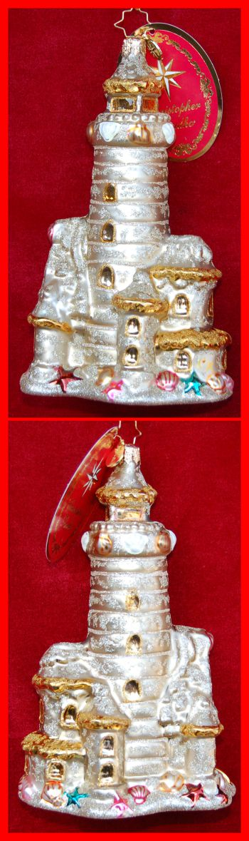 Castles in the Sand European Glass Christmas Ornament Personalized by Russell Rhodes
