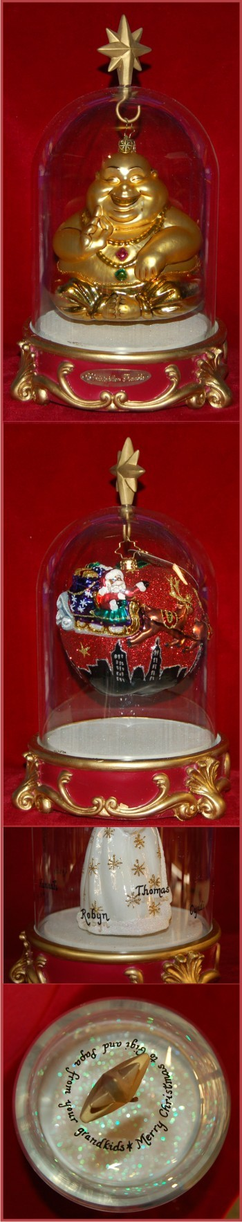 Medium Ornament Keepsake Dome -  Up to 18 People Christmas Ornament Personalized by Russell Rhodes