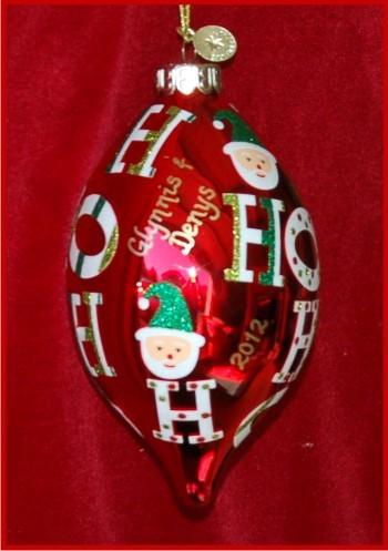 Radko: A Big Santa Greeting for Granddaughter Personalized Christmas Ornament