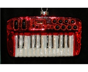 Rock Band Keyboard Personalized Christmas Ornament Personalized by Russell Rhodes