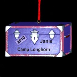Off to Camp! Christmas Ornament Personalized by Russell Rhodes