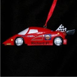Grand le Prix Race Car Personalized Christmas Ornament