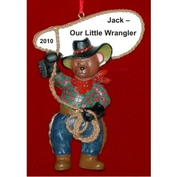 'Lil Cowpoke Personalized Christmas Ornament