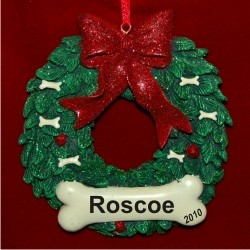 Merry Merry for the World's Best Dog Christmas Ornament Personalized by Russell Rhodes