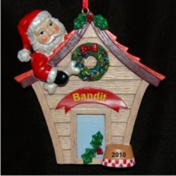 Decked Out Doghouse Christmas Ornament