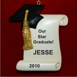 Graduation Diploma Personalized Christmas Ornament