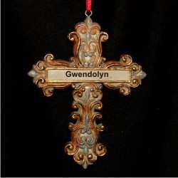Christian Celtic Cross Personalized Christmas Ornament
