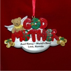 Godmother with Bear Angel Christmas Ornament