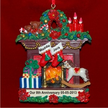 Our 8th Anniversary (or any other) Christmas Ornament Personalized by Russell Rhodes