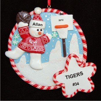 Snowy Fun Basketball Christmas Ornament