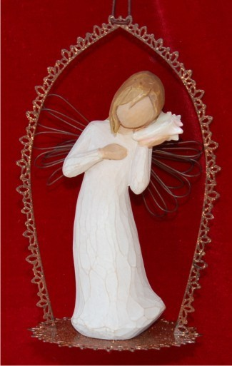 Thinking of You Trellis Personalized Angel Ornament