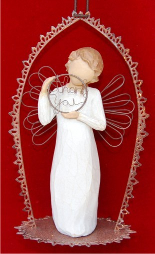 Just for You Trellis Personalized Angel Ornament