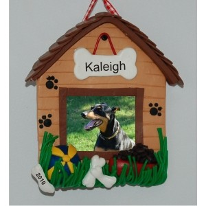 Dog Ornament Frame Ornament Personalized Christmas Ornament