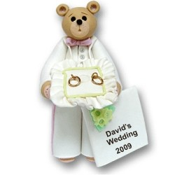 Belly Bear Ring Bearer Personalized Christmas Ornament