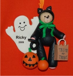 Belly Bear Cat Personalized Christmas Ornament